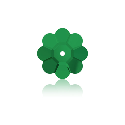 Swarovski Sew-on 3700 U Flower 8mm Emerald 12pcs image