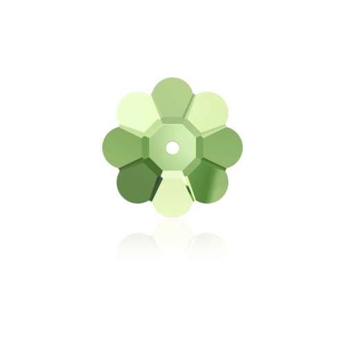 Swarovski Sew-on 3700 U Flower 12mm Peridot 12pcs image