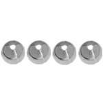 "METALIZED JAPANESE PEARLS 8mm ROUND 60"" SILVER image"