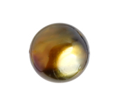 Glass Pearl 19mm Opaque Metallic Brown image