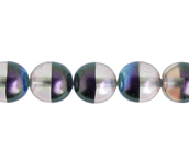 Glass Pearl 8mm Silver Rainbow image
