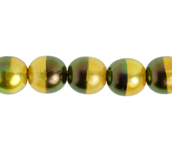 Glass Pearl 8mm Gold Rainbow image
