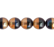 Glass Pearl 8mm Brown Rainbow image