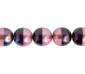 Glass Pearl 8mm Purple Rainbow image