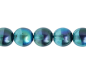 Glass Pearl 8mm Blue Rainbow image