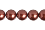 "GLASS PEARL 8mm RUSTY 24"" 75 PCS/STRING image"