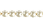 "GLASS PEARL ROUND 3mm (133pcs) 2X8"" STRUNG OFF WHITE image"