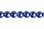 "GLASS PEARL ROUND 3mm (133pcs) 2X8"" STRUNG TANZANITE image"