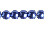 "GLASS PEARL ROUND 4mm (100pcs) 2x8""STRUNG TANZANITE image"