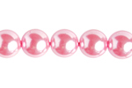 "GLASS PEARL ROUND 4mm (100pcs) 2x8"" STRUNG  PINK image"