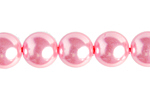 "GLASS PEARL ROUND 6mm (66pcs) 2x8"" STRUNG  PINK image"