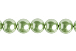 "GLASS PEARL ROUND 8mm (50pcs) 2x8"" STRUNG LIGHT OLIVINE image"