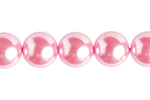 "GLASS PEARL ROUND 8mm (50pcs) 2x8"" STRUNG  PINK image"
