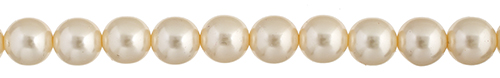 Czech Glass Pearls 8in Strand 3mm (60pcs) Cream image