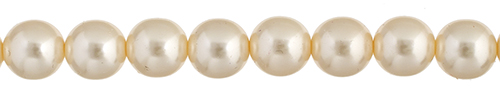 Czech Glass Pearls 8in Strand 4mm (45pcs) Cream image