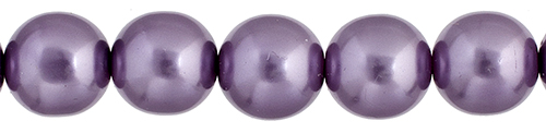 Czech Glass Pearls 8in Strand 6mm (30pcs) Purple image
