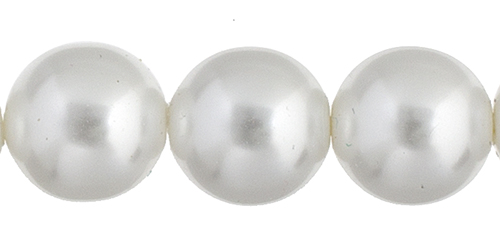 Czech Glass Pearls 8in Strand 10mm (18pcs) White image