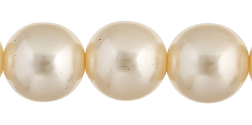 Czech Glass Pearls 8in Strand 10mm (18pcs) Cream image