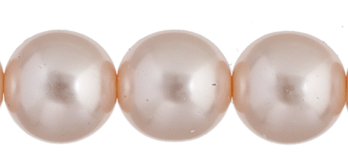 Czech Glass Pearls 8in Strand 10mm (18pcs) Light Creamrose image