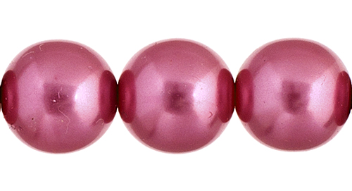 Czech Glass Pearls 8in Strand 10mm (18pcs) Rose image