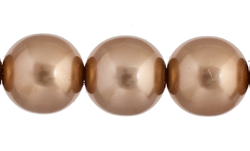 Czech Glass Pearls 8in Strand 10mm (18pcs) Rose Gold image