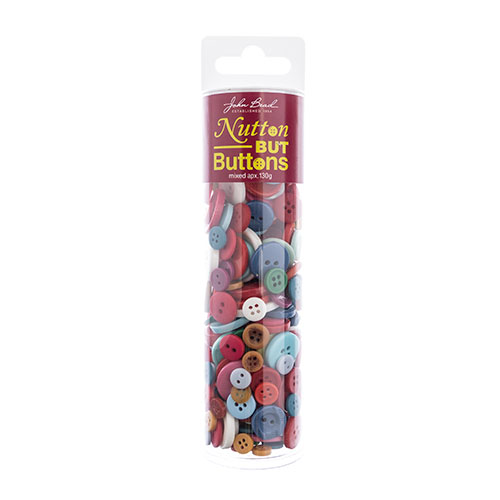 Nutton but Buttons 130g Tube Mixed Sizes Resin Mixed image