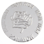 EMBOSSED FLAT PLATE ALUMINIUM 64mm  TULIP POW WOW PATTERN image