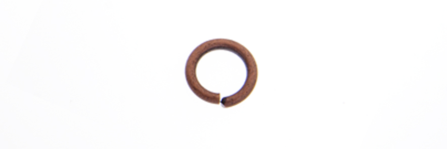 JUMP RING 20ga ANT. COPPER 3mmID/5mmOD APPROX 1830 PCS image