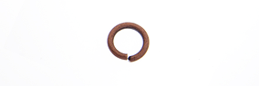 JUMP RING 21ga ANT. COPPER 1.9mmID/3.5mmOD APPROX 3430pcs image