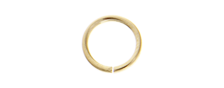 JUMP RING ROUND 7mmOD 18ga BRASS LF/NF image