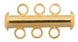 Tube Clasp with 3-Strands Gold LF/NF image