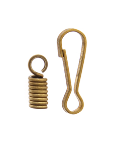 BR.SPRING W/HOOK & CLASP 2.5MM HOLE 2 SPRINGS 1HOOK-100SET image