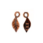 Crimp Ends Leaf 1.4mm Hole Antique Copper image