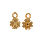 Crimp Ends Clover 1.4mm Hole Brass image