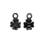Crimp Ends Clover 1.4mm Hole Black image