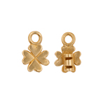 Crimp Ends Clover 2mm Hole Brass image