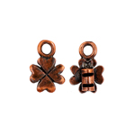 Crimp Ends Clover 2mm Hole Antique Copper image