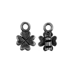 Crimp Ends Clover 2mm Hole Black image