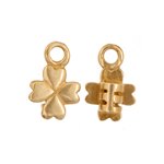 Crimp Ends Clover 3mm Hole Brass image