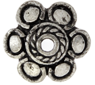 BEAD CAP LARGER HOLE 12mm ANTIQUE SILVER LF/NF image