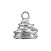 kumihimo End Cap 16x13mm Oval Silver LF/NF image
