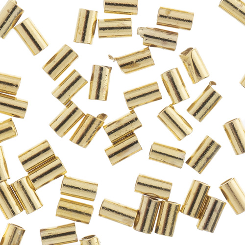 Beadalon Crimp Tubes Fits 0.5mm Gold 80pcs (For Stretch Cord) image