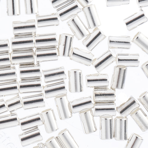 Beadalon Crimp Tubes Fits 0.7 or 0.8mm Silver80pcs (For Stretch Cord) image