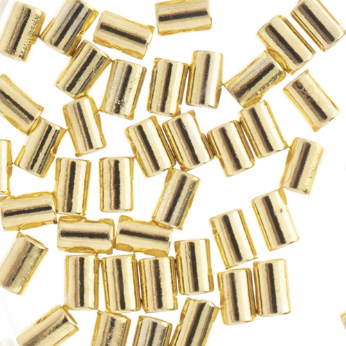 Beadalon Crimp Tubes Fits 0.7 or 0.8mm Gold 80pcs (For Stretch Cord) image
