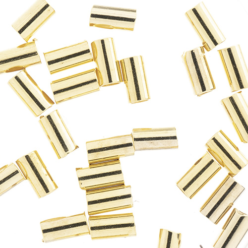 Beadalon Crimp Tubes Fits 1.0mm Gold 40pcs (For Stretch Cord) image