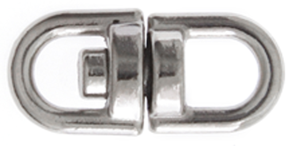Swivel Key Loop 16x8mm Nickel Color image