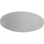 Metal Blank 24ga German Silver Oval 25x12mm No Hole image
