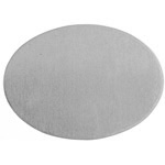 Metal Blank 24ga German Silver Oval 25x18mm No Hole image