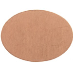 Metal Blank 24ga Copper Oval 25x18mm No Hole image