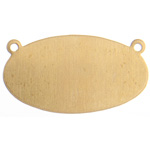 Metal Blank 24ga Brass Oval 25x12mm with Rings image